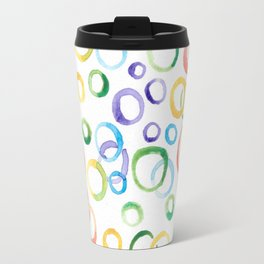 Fun Multicolor Bubbles Travel Mug