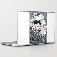 chic Laptop & iPad Skins featuring CHIC by The Curly Whirl Girly.