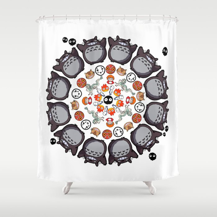 STUDIO GHIBLI MANDALA Shower Curtain