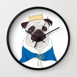 Royal Pug#2 Wall Clock