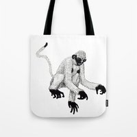 ape Tote Bags featuring ape by rectify