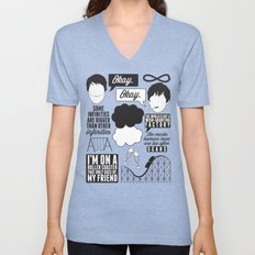 The Fault In Our Stars Collage Unisex V-Neck
