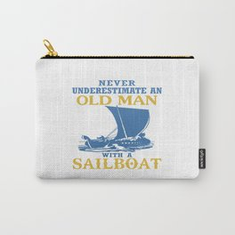 Old Man With A Sailboat Carry-All Pouch