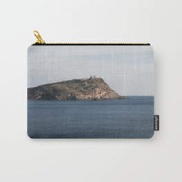 Greek seascape - landscape photography poster - Cape Sounio - Greece Carry-All Pouch