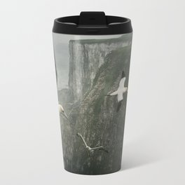 Gannets at Bempton Cliffs Travel Mug