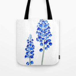 2 abstract blue grape hyacinth watercolor Tote Bag