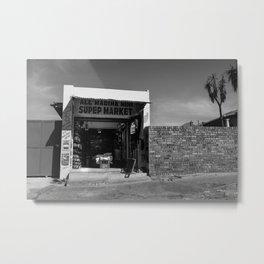Sidewalk Spaza Shop Metal Print