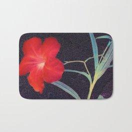Breezy Rustic Red Flower Bath Mat