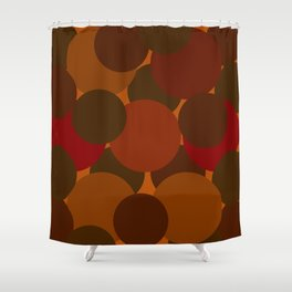 Abstract Circles Fall Shower Curtain