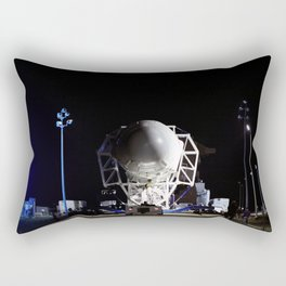 he SpaceX Falcon 9 rocket makes its way to the pad at Space Launch Complex-40 on Cape Canaveral Air Rectangular Pillow