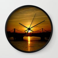 chelsea Wall Clocks featuring Chelsea afternoon by Azureart