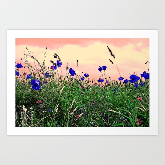 Poppy Abstract Art Print