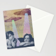 Meanwhile, up in Heaven... Stationery Cards