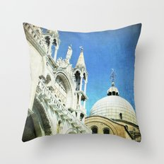 Basilica di San Marco - Venice Throw Pillow