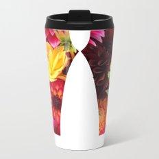 Flower Power Leggings Metal Travel Mug