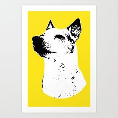Potrait of a Jack Russell Terrior Art Print