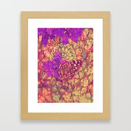 Little brouwn Butterfly Framed Art Print