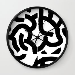 Fragments of Rhizome Paths no. 1 Wall Clock