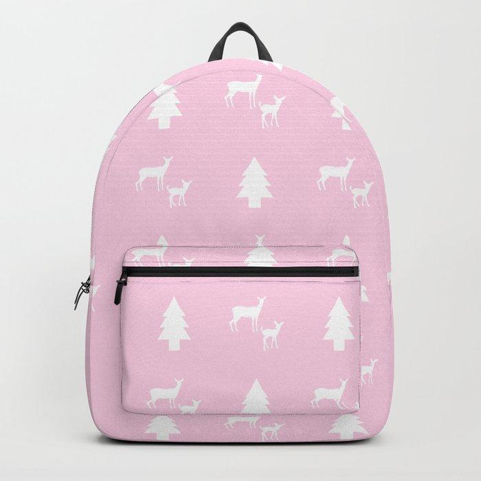 Diaper bag deer mama and baby pink Grey
