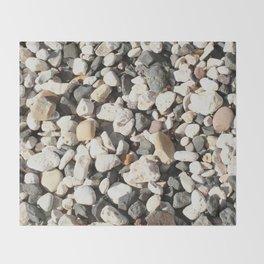Seaside Beach Pebbles Pattern Throw Blanket