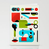kit king Stationery Cards featuring Sewing Kit by koivo