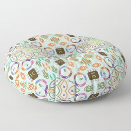 """Seamless pattern in the style of """"printed circuit board"""" Floor Pillow"""