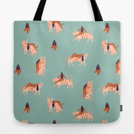 Tigers and girls Tote Bag