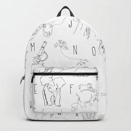 Blind Contour Alphabet Backpack