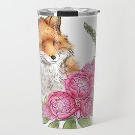 Fox in Bloom Travel Mug