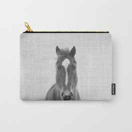 Horse II - Black & White Carry-All Pouch