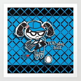 BAD GRACE: Play Ball Art Print