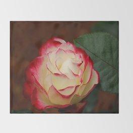 Cherry Parfait Rose Throw Blanket
