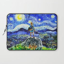 triforce link starry night Laptop Sleeve