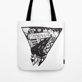 Psychoville black ink drawing Tote Bag