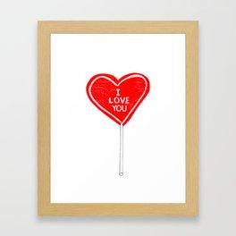 I love you, sucker Framed Art Print