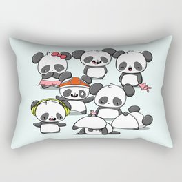 Kawaii Panda Doodle Rectangular Pillow