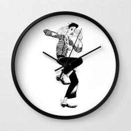 Mime (An invisible wall) Wall Clock
