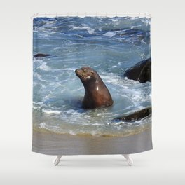 Frolicking Grand Poobah Shower Curtain