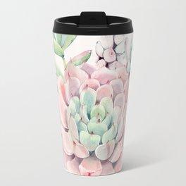 Perfect Pink Succulent Travel Mug