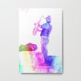 The Saxophonist Metal Print