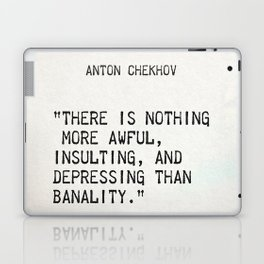 Anton Chekhov quote Laptop & iPad Skin