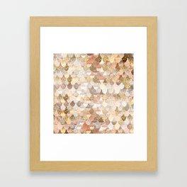 MERMAID GOLD Framed Art Print