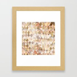 MERMAID GOLD Framed Art Print