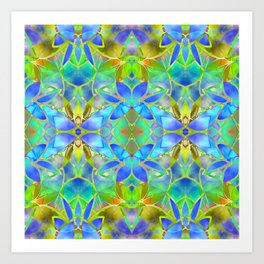 Floral Fractal Art G20 Art Print