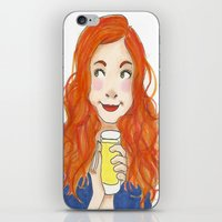 amy pond iPhone & iPod Skins featuring Amy Pond Lemonade by Lena Lang