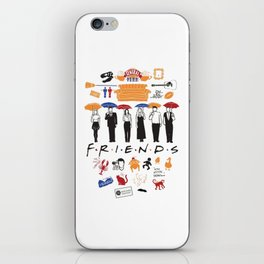 Friends collage iPhone Skin