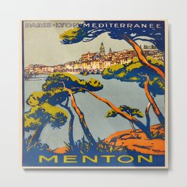 Vintage poster - Menton Metal Print