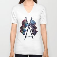 equality V-neck T-shirts featuring Equality by Pajamarai Illustrations