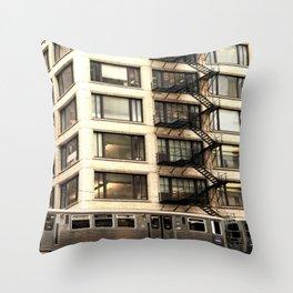 Chicago Fire Escape Throw Pillow