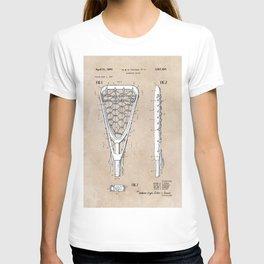 patent art Tucker Lacrosse stick 1967 T-shirt